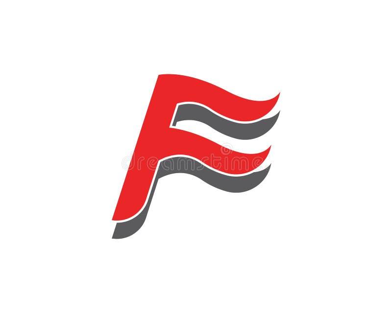 Letra Logo Template de F ilustração stock