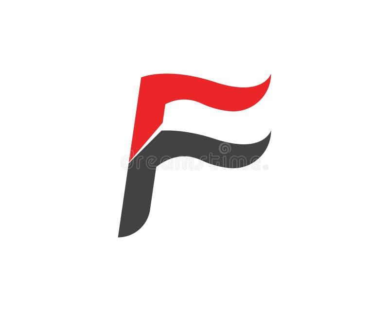 Letra Logo Template de F ilustração do vetor
