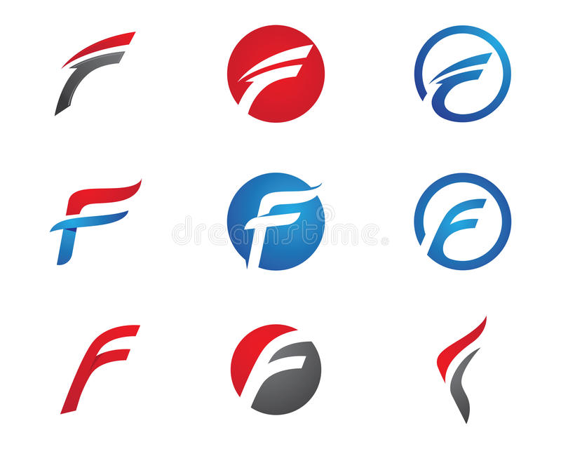 Letra Logo Template de F stock de ilustración
