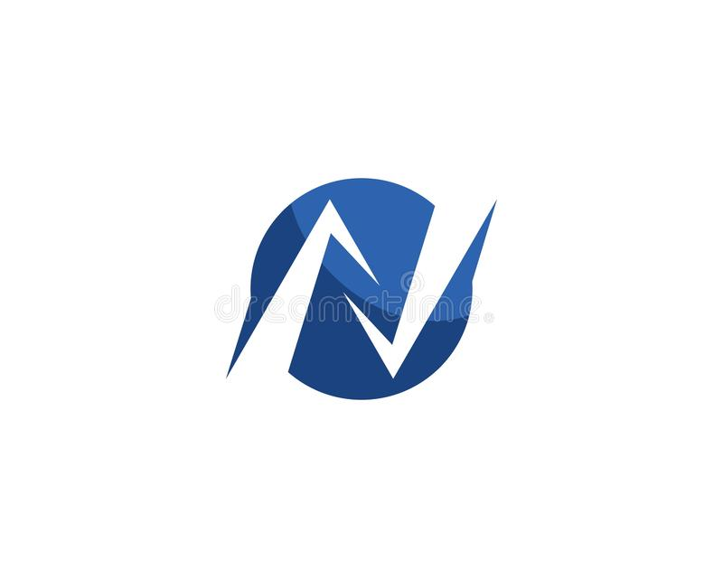 Letra Logo Template de N ilustração royalty free