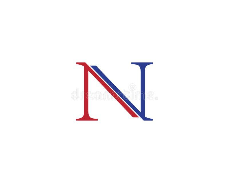 Letra Logo Template de N ilustração do vetor