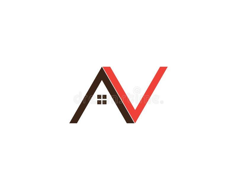 Letra Logo Template de N ilustração stock