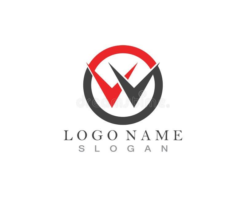 Letra Logo Template de W ilustração royalty free