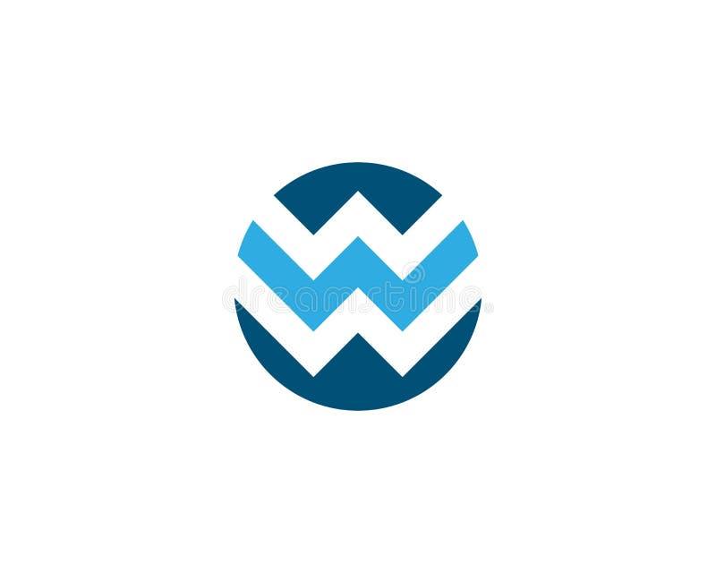 Letra Logo Template de W ilustração stock