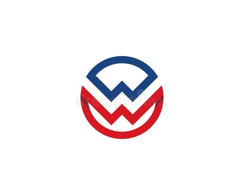 Letra Logo Template de W ilustração do vetor
