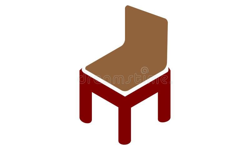 Letra M Chair Furniture ilustração stock
