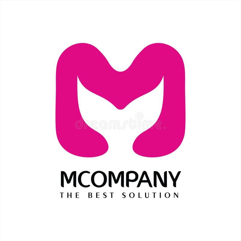 Letra M Company Logo Vetora ilustração royalty free
