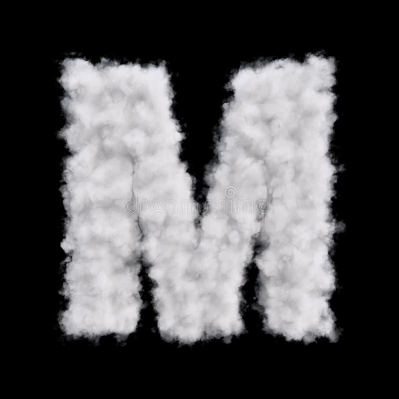Letra M de la nube libre illustration
