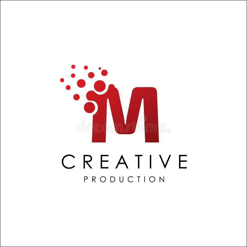 Letra M Dot Logo Vetora ilustração royalty free