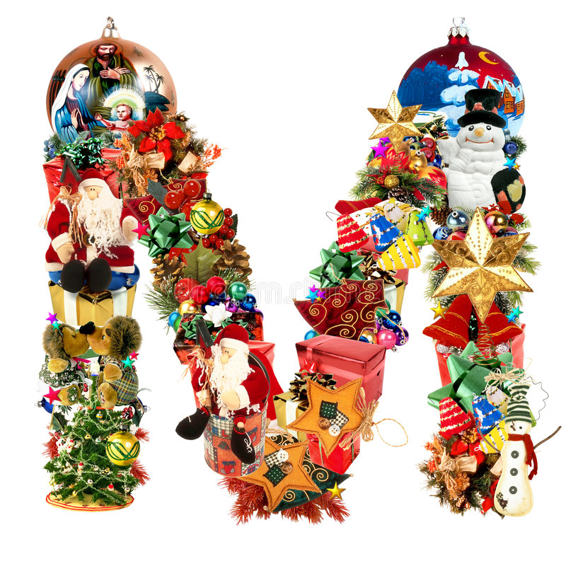 Download Letra M, Para La Decoración De La Navidad Stock de ilustración - Ilustración de capital, atractivo: 7287668