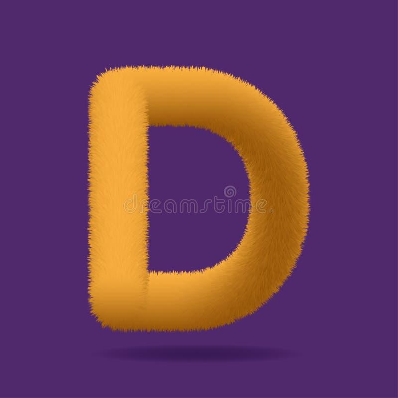 Letra mayúscula D - vector de la piel anaranjada libre illustration