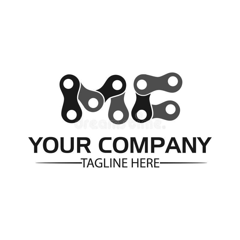 Letra MC, Logo Letter MC e corrente logotipo formado pela corrente ilustração royalty free