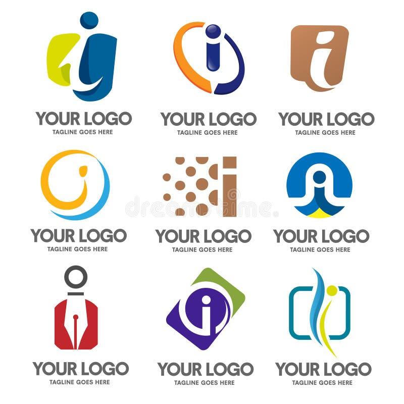 Letra mim conceito do logotipo ilustração royalty free