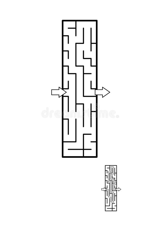 Letra mim jogo do labirinto para crianças ilustração stock