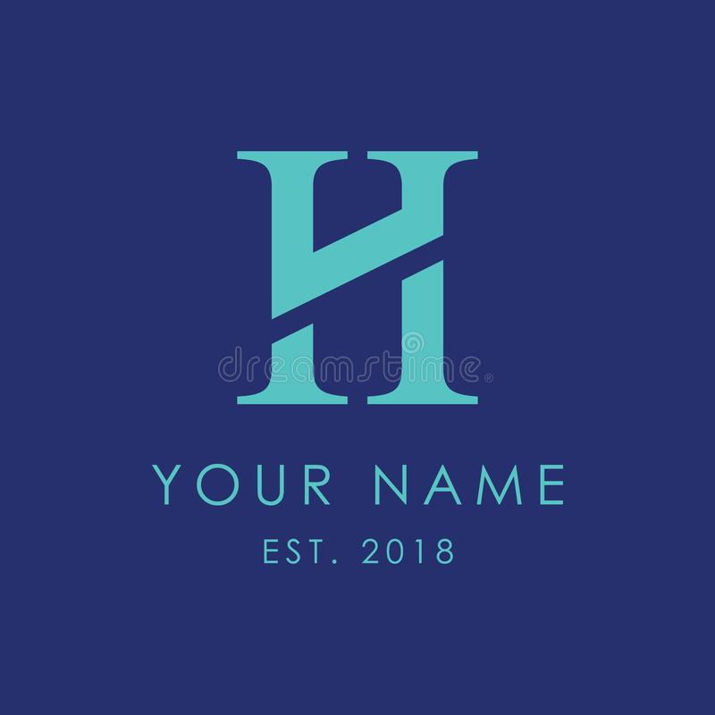 Letra moderna H Logo Mark foto de archivo