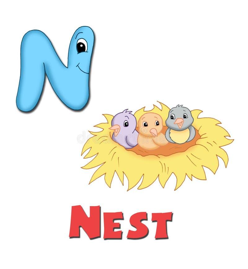 Letra N stock de ilustración