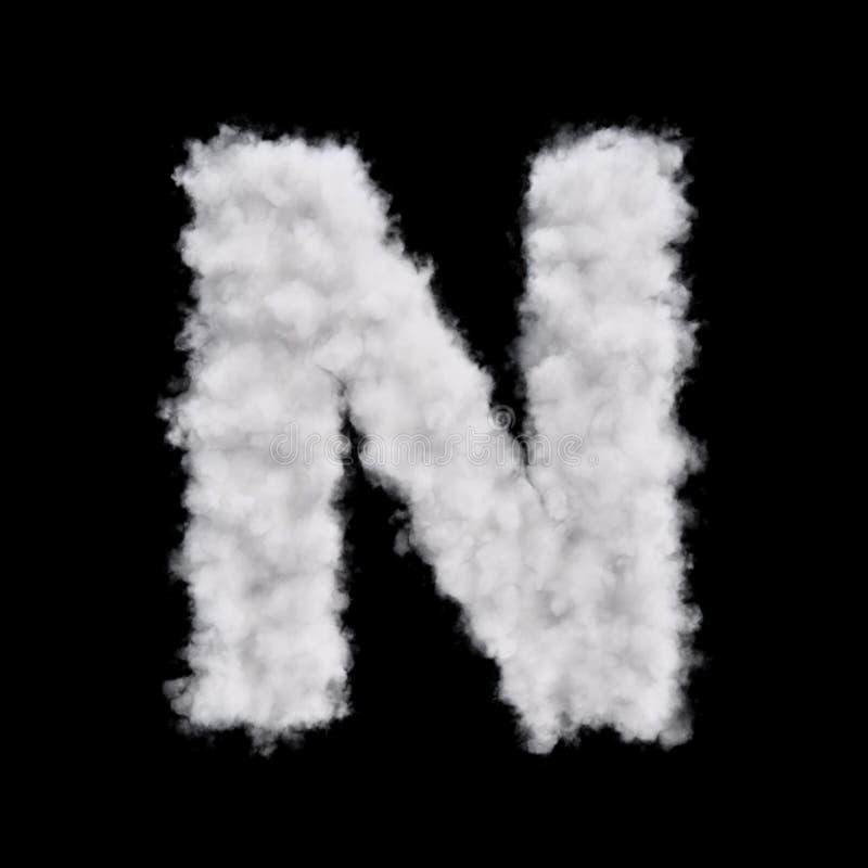 Letra N de la nube stock de ilustración