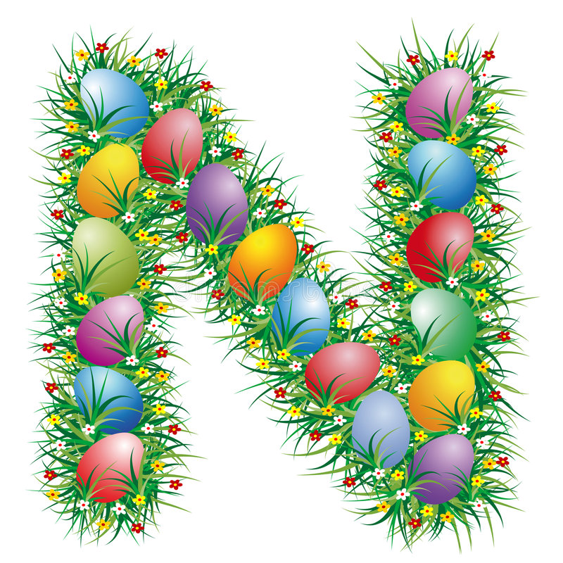 Letra N de Pascua libre illustration