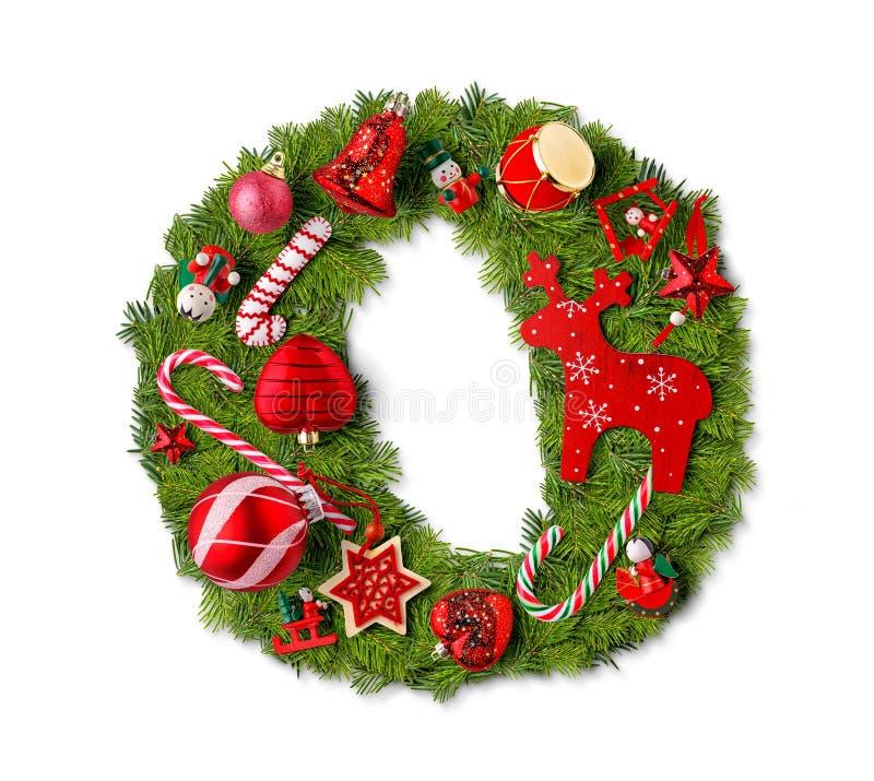 Letra O del alfabeto de la Navidad foto de archivo libre de regalías