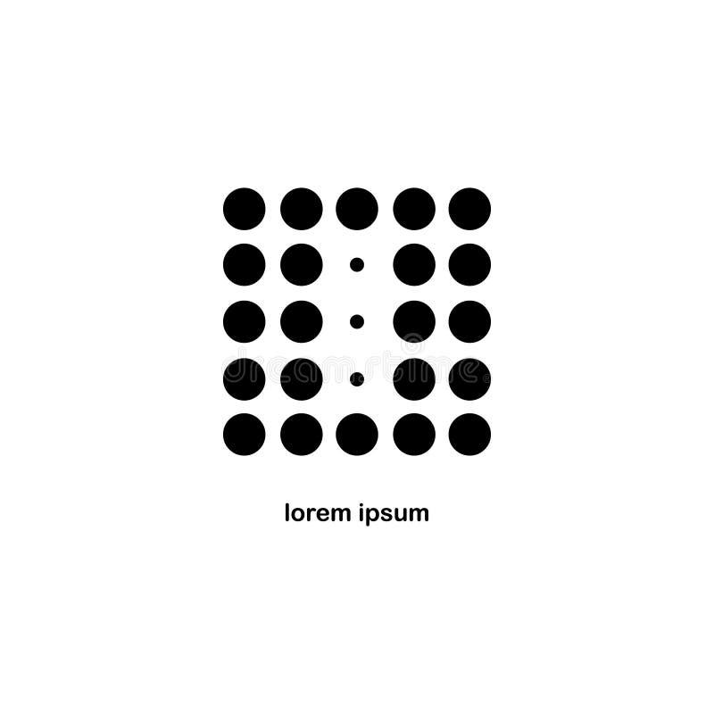 Letra O Dot Logo Icon imágenes de archivo libres de regalías