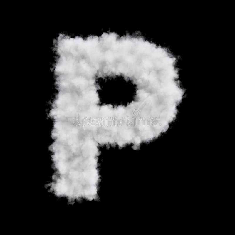 Letra P de la nube ilustración del vector