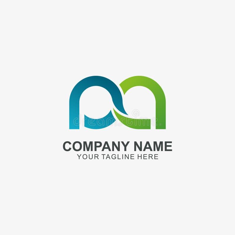 Letra P del infinito y icono del logotipo de A, logotipo inicial usado para su compañía libre illustration