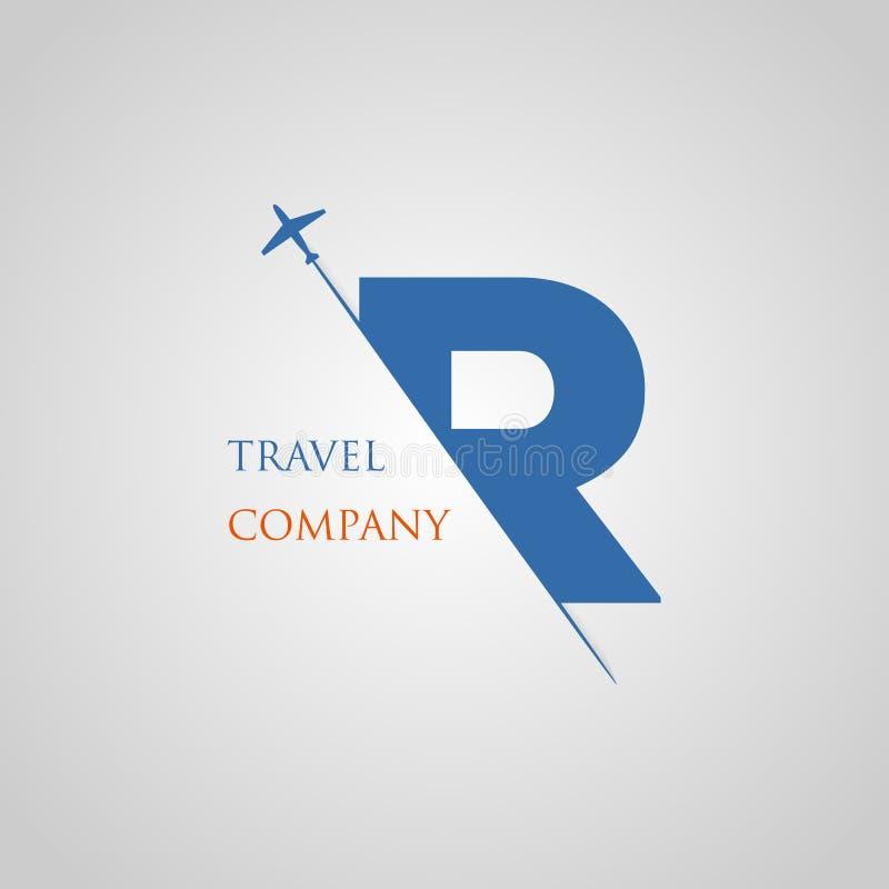 A letra principal de R é introduzida no entalhe de papel com a letra plana R da fatia para o logotipo do curso fotografia de stock