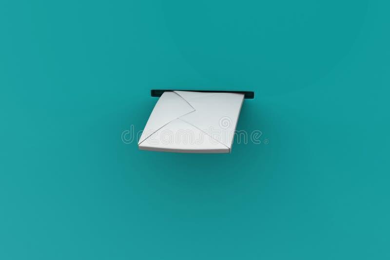 Letra que fija el buzón ilustración del vector