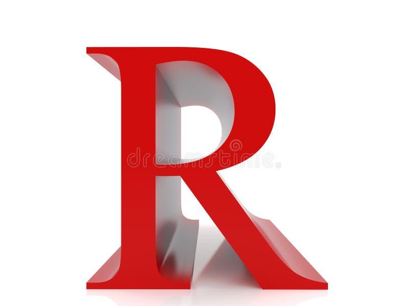 Letra R ilustração royalty free