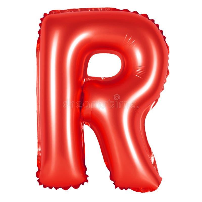 Letra R do vermelho do alfabeto inglês ilustração stock