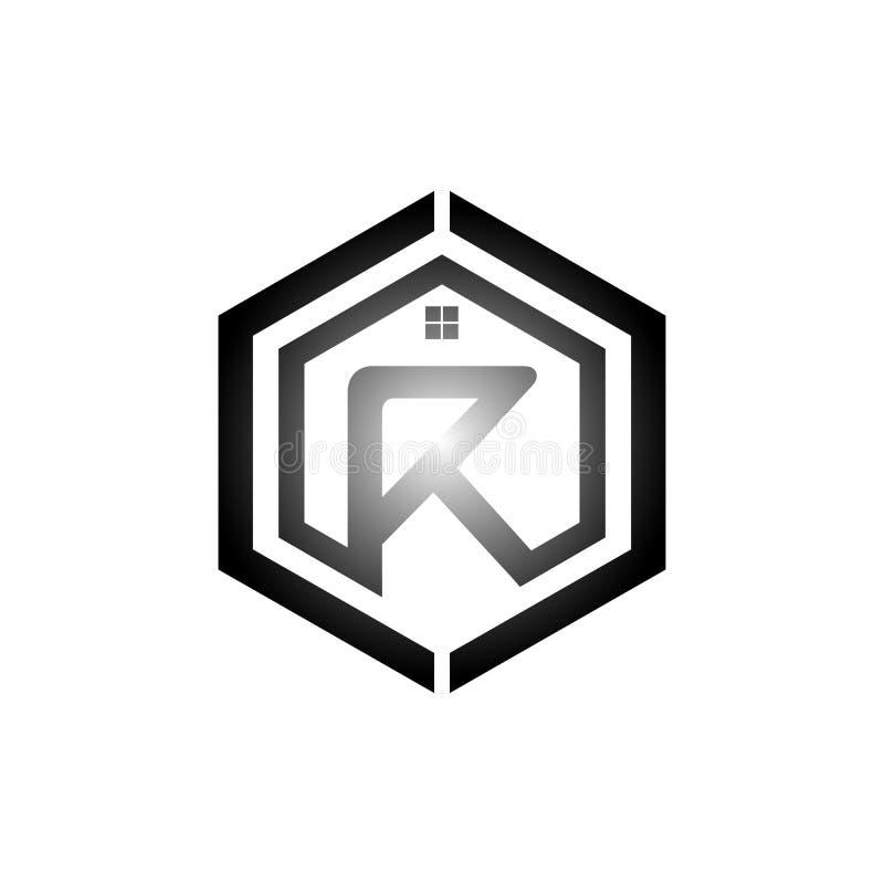 Letra R Logo Design Element con el ejemplo Vec de la tarjeta de visita ilustración del vector