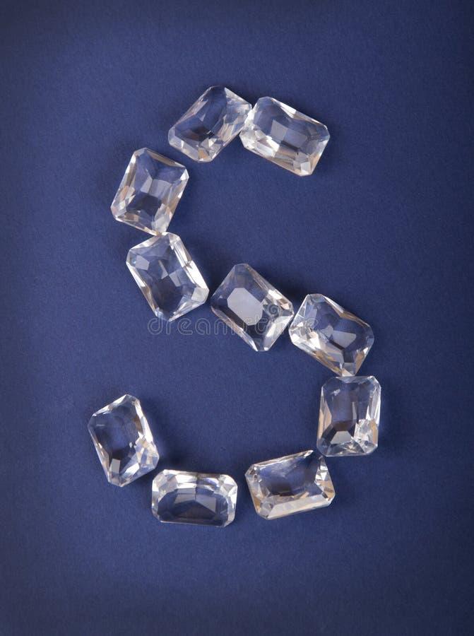 Letra S de diamantes fotos de archivo libres de regalías