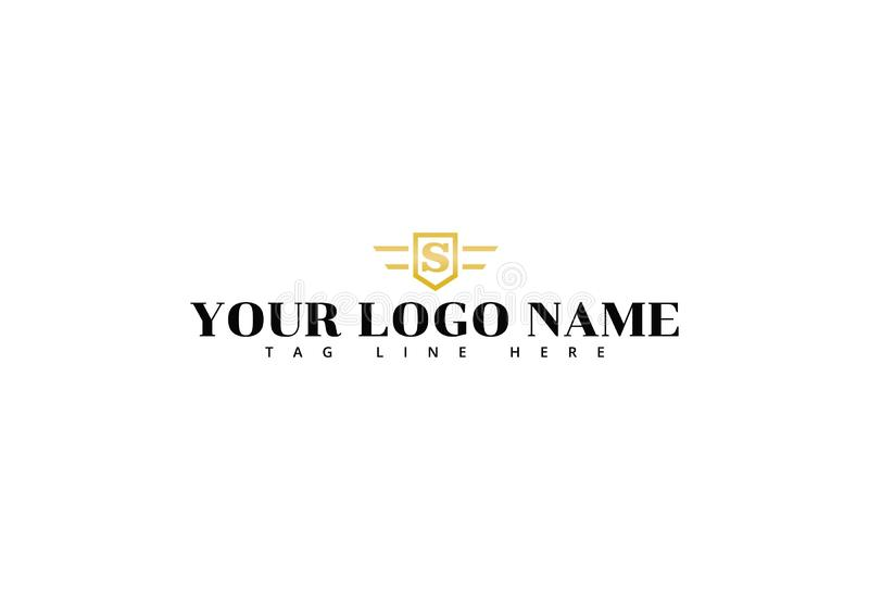 Letra S Logo Design do alfabeto ilustração do vetor
