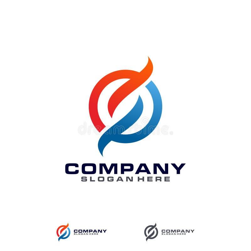 Letra S Logo Template de símbolo abstracto stock de ilustración