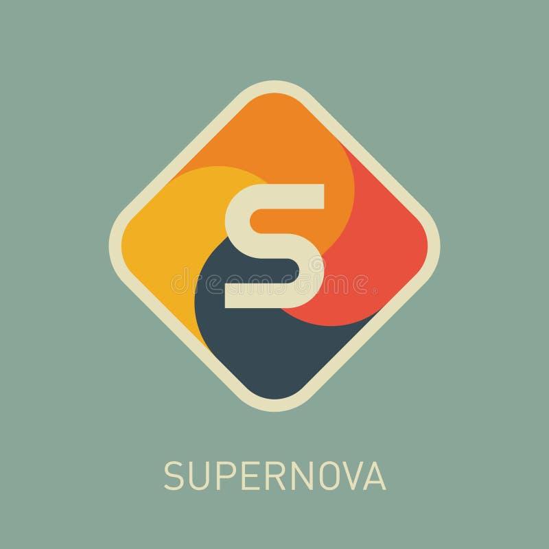 Letra S, molde incorporado do logotipo do vetor Ícone criativo abstrato ilustração do vetor