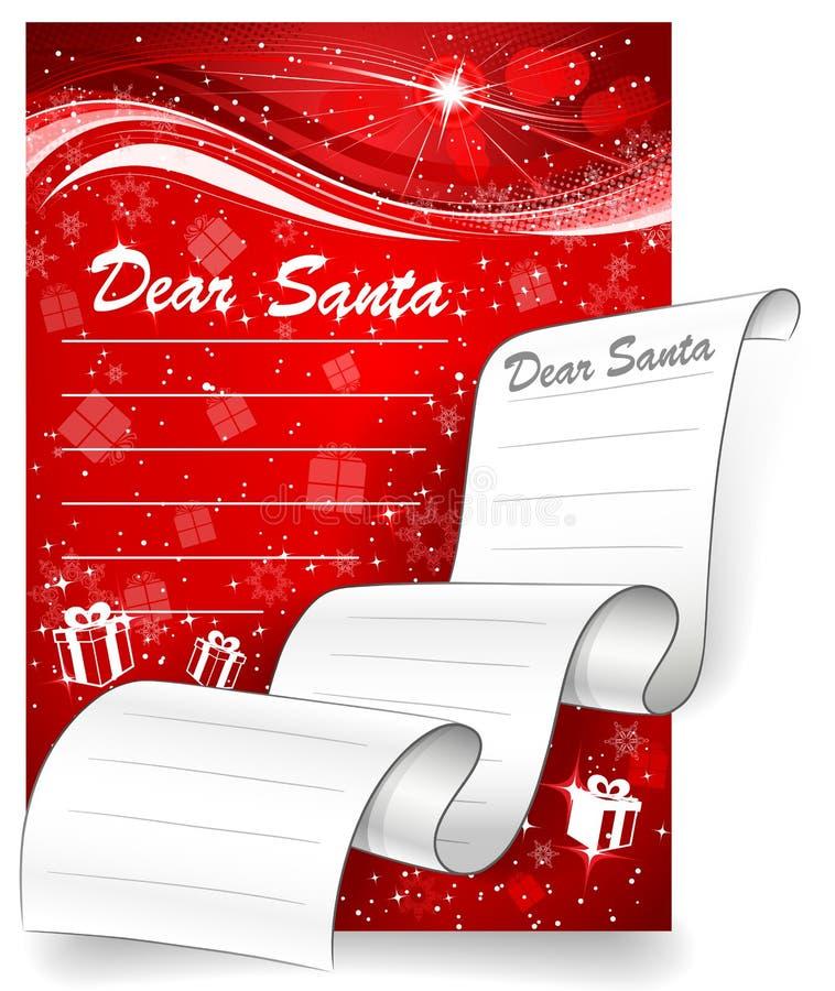 Letra a Santa. Fundo do Natal ilustração royalty free