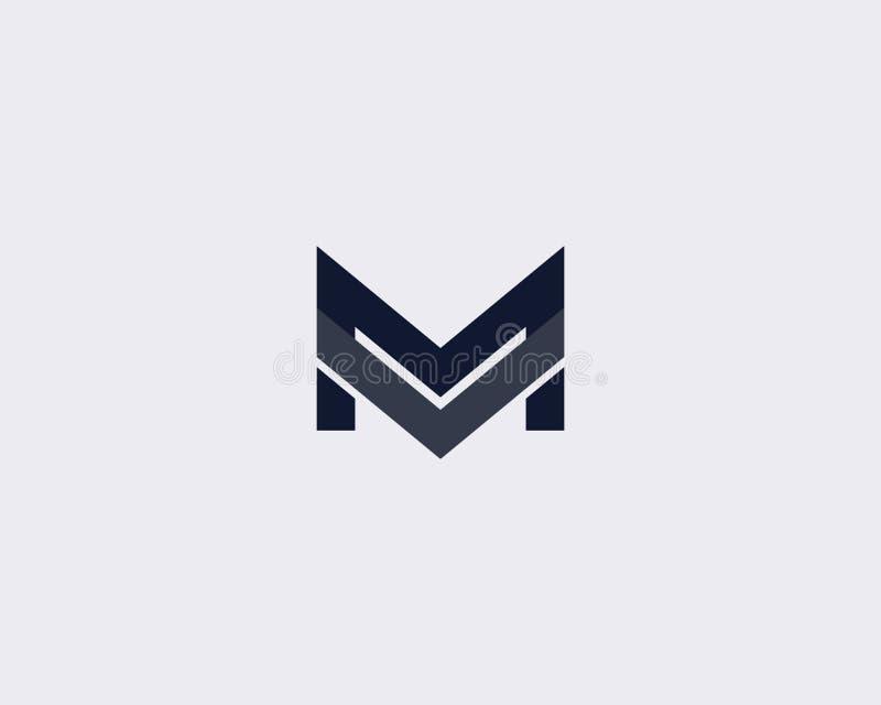 Letra simples M Logo Design Template ilustração do vetor