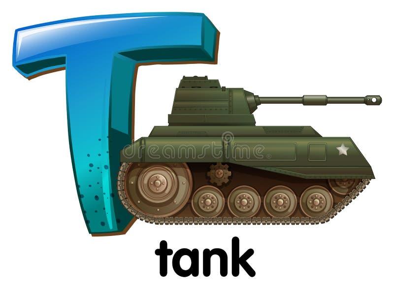 Letra T stock de ilustración