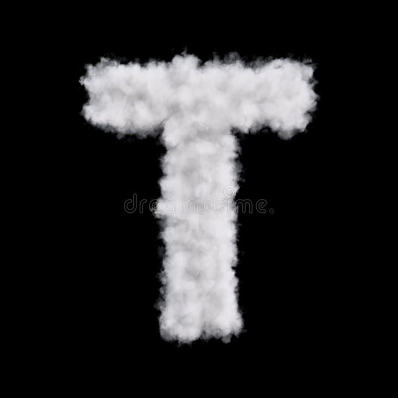 Letra T de la nube ilustración del vector