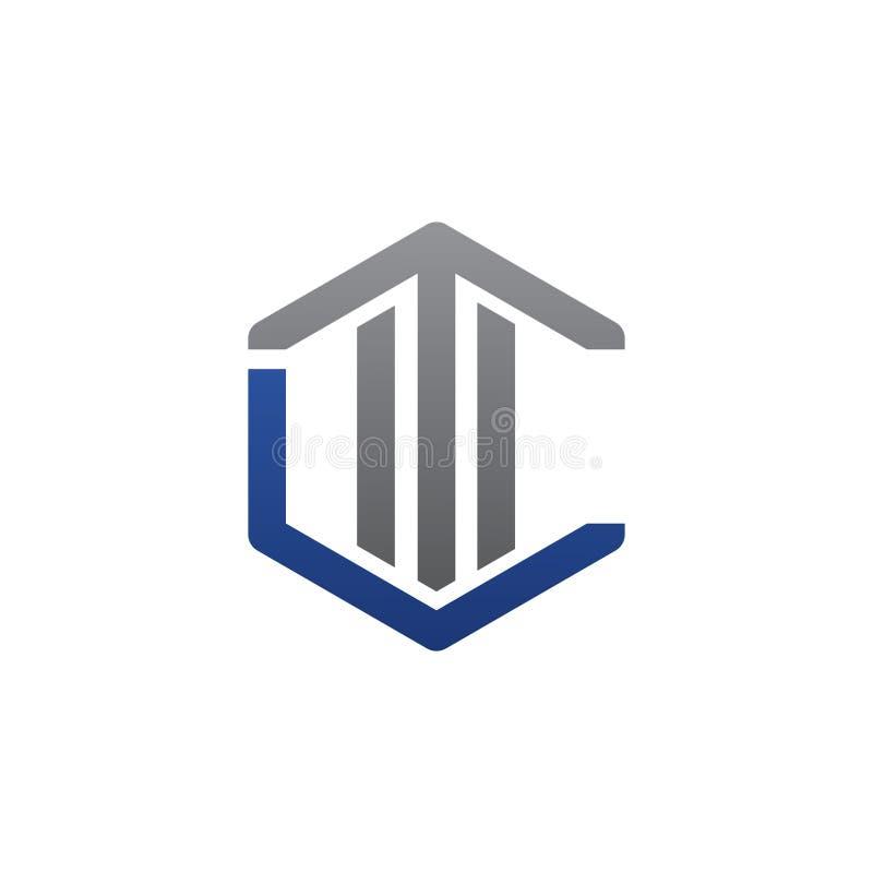 Letra t del ejemplo del vector y diseño moderno del logotipo del icono de c stock de ilustración