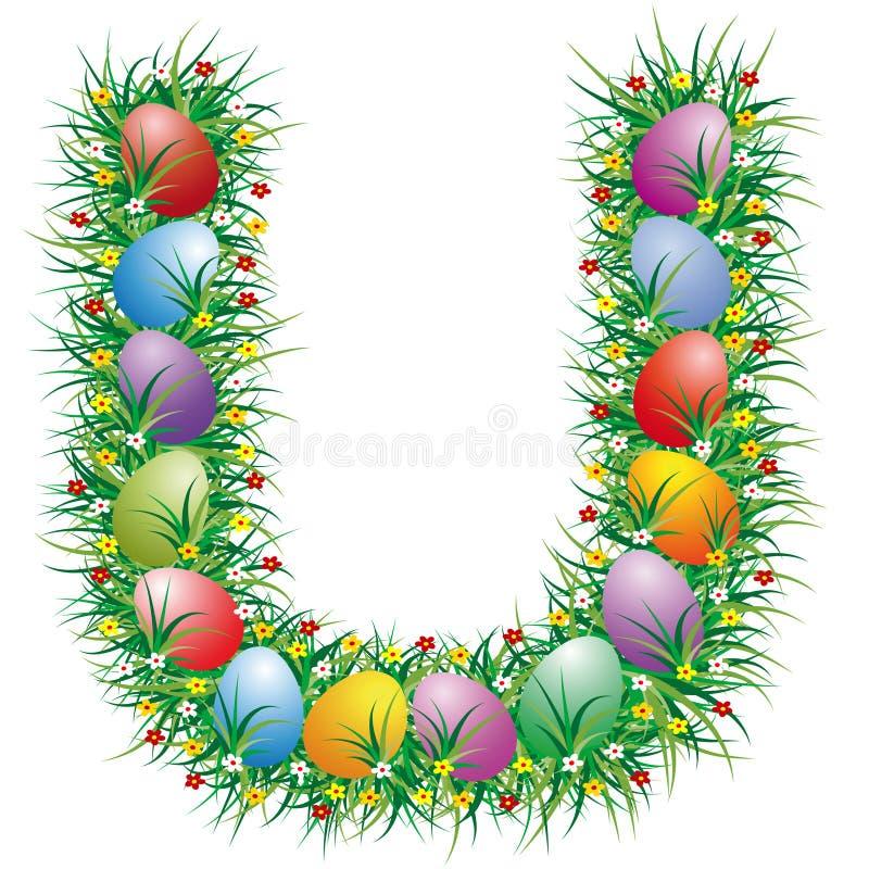 Letra U de Easter ilustração do vetor