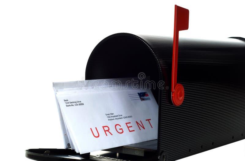 Letra urgente fotografia de stock royalty free