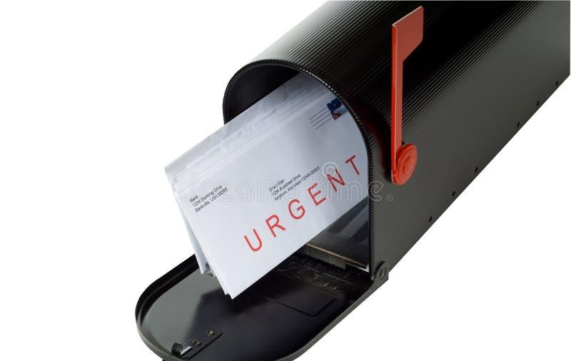Letra urgente foto de stock