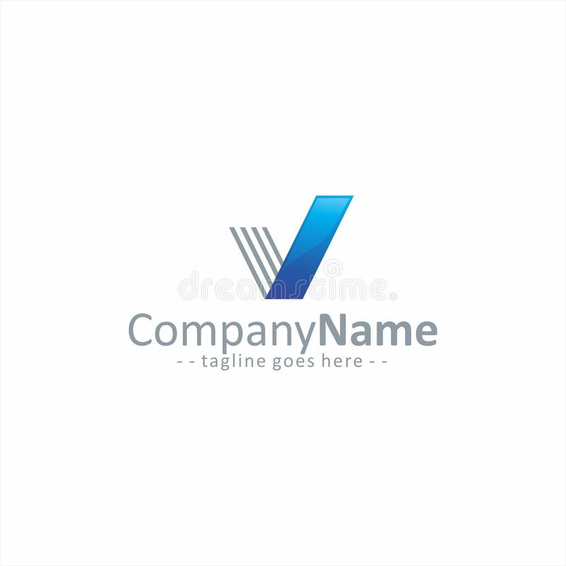 Letra V Logo Simple