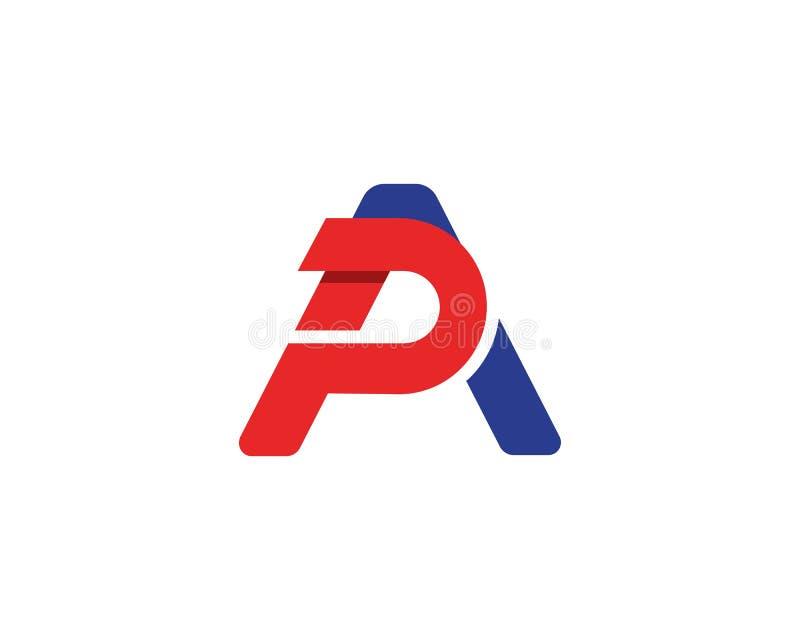 letra, vector, símbolo, extracto, icono, ap, muestra, diseño, PA, corporativo, logotipo, concepto, alfabeto, inicial, negocio, fo ilustración del vector