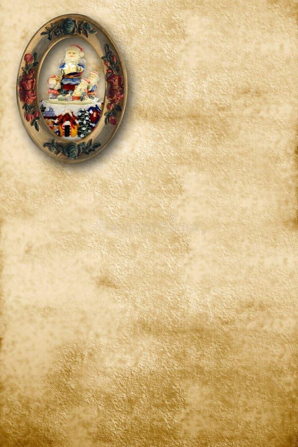 Letra velha de Santa fotos de stock