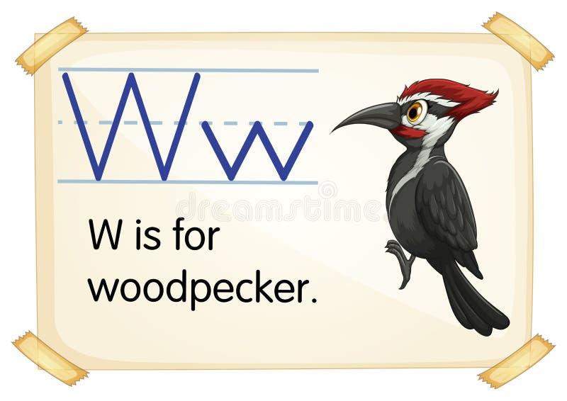 Letra W ilustración del vector