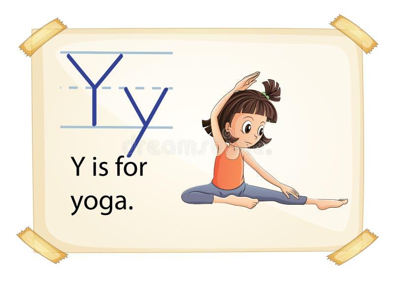 Letra Y ilustração stock