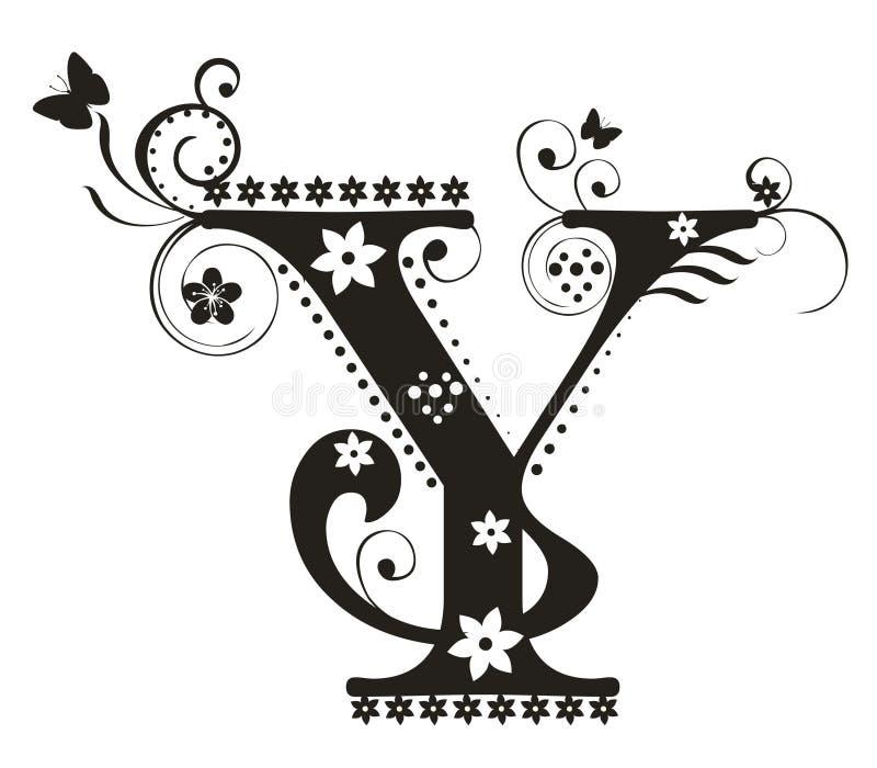 Letra Y ilustración del vector