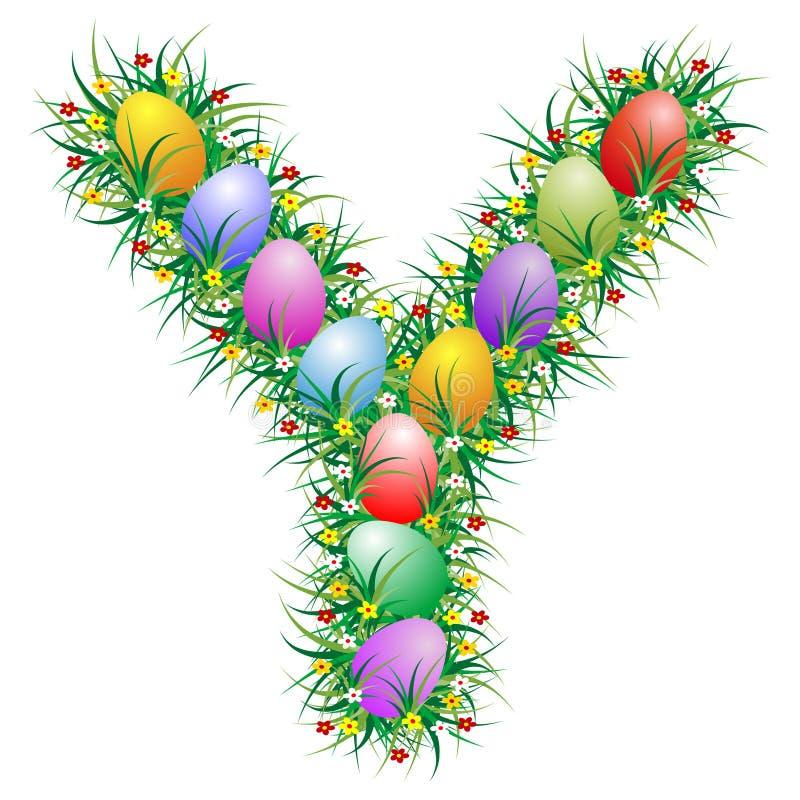 Letra Y de Pascua stock de ilustración